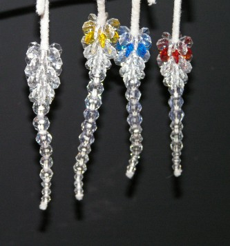 This is how some of our finished icicles looked
