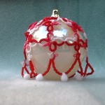 Wendy Durell's snowflake as basis for covering Christmas Ball
