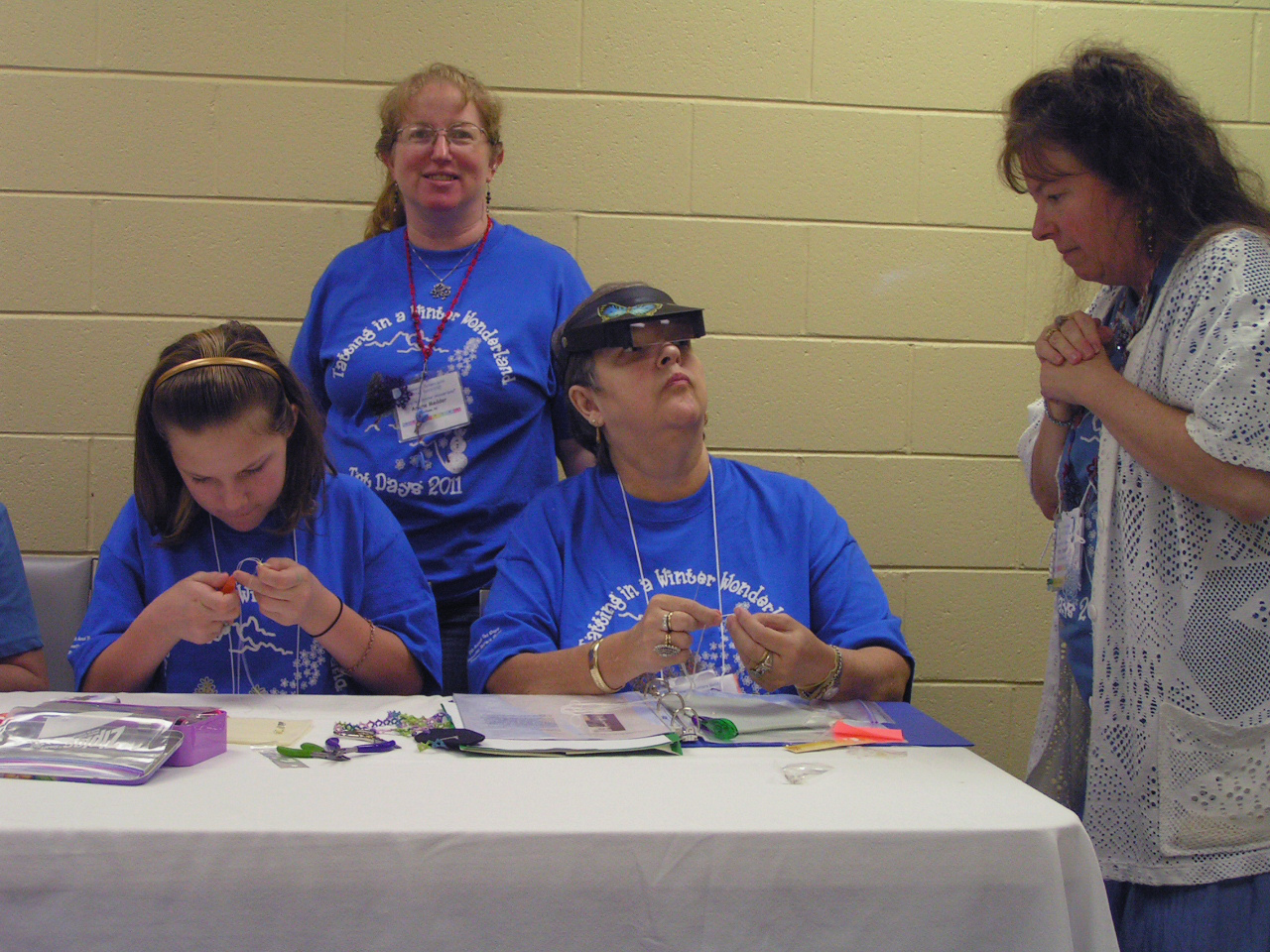 Abby & 3 Crystals \'n Cuff Class members